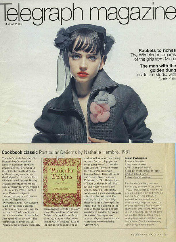 TELEGRAPH MAG – Cookbook Classic