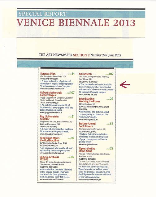 THE ART NEWSPAPER: Venice Biennale 2013