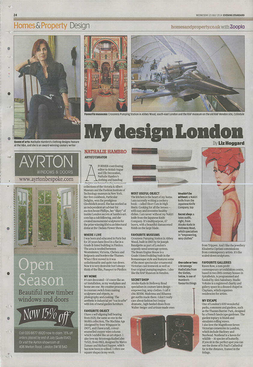 EVENING STANDARD – Design: My Design London